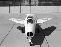 Bell X-5 with wings in high speed position