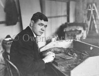 Babe Ruth rolling cigars