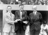 George Sisler, Babe Ruth and Ty Cobb 1924