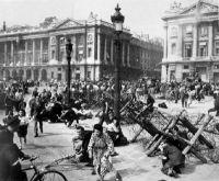 Crowds of Parisians celebrating end of German occupation, Paris