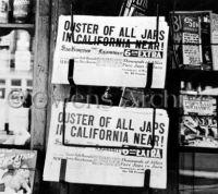 San Francisco Examiner headline,  Removal of Japanese Americans